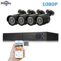 Hiseeu Security Camera System 4ch CCTV System 5in1 DVR DIY Kit 4 X 1080P AHD Security