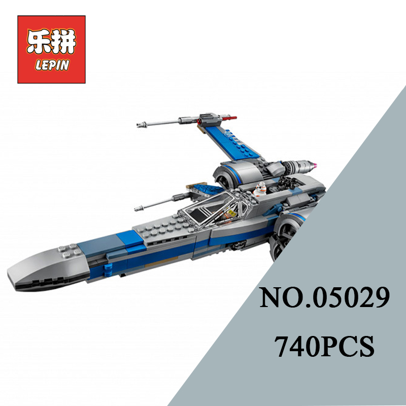 LEPIN 05029 Stars Series War X Toy Wing Set Fighter DIY Model Building Kits Blocks Bricks Children Toys Christmas Gift 75149 lepin 05077 stars series war the ucs rupblic set star destroyer model cruiser st04 diy building kits blocks bricks children toys