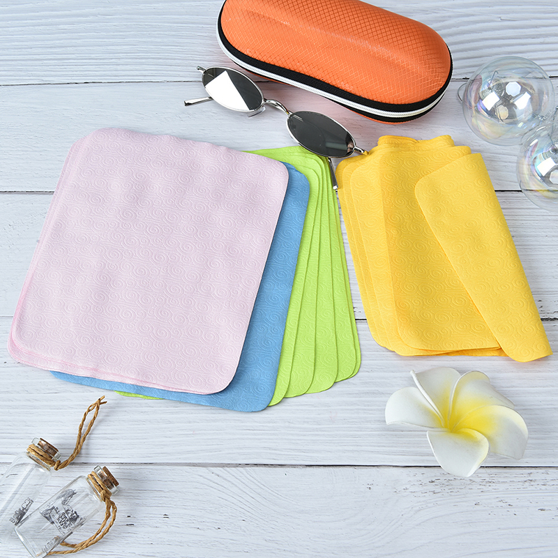 5Pcs New Cleaner Clean Glasses Lens Cloth Wipes Microfiber Eyeglass Cleaning Cloth For Camera Computer Wacthe