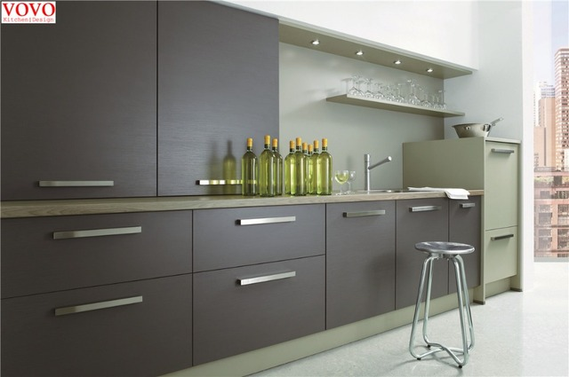 Gris laca gabinete de cocina en Gabinetes de cocina de Mejoras para ...