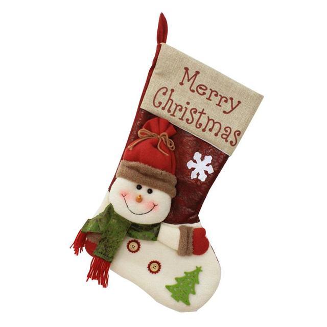 christmas stocking santa socks christmas gift bags for kids christmas decoration for home xmas tree hanging - Christmas Stockings For Kids
