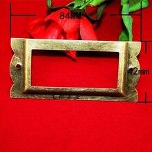 84 42 мм Большой античный коробка этикетка этикетка ручка карточки визитная карточка box ящик украшение коробка этикетка ручка