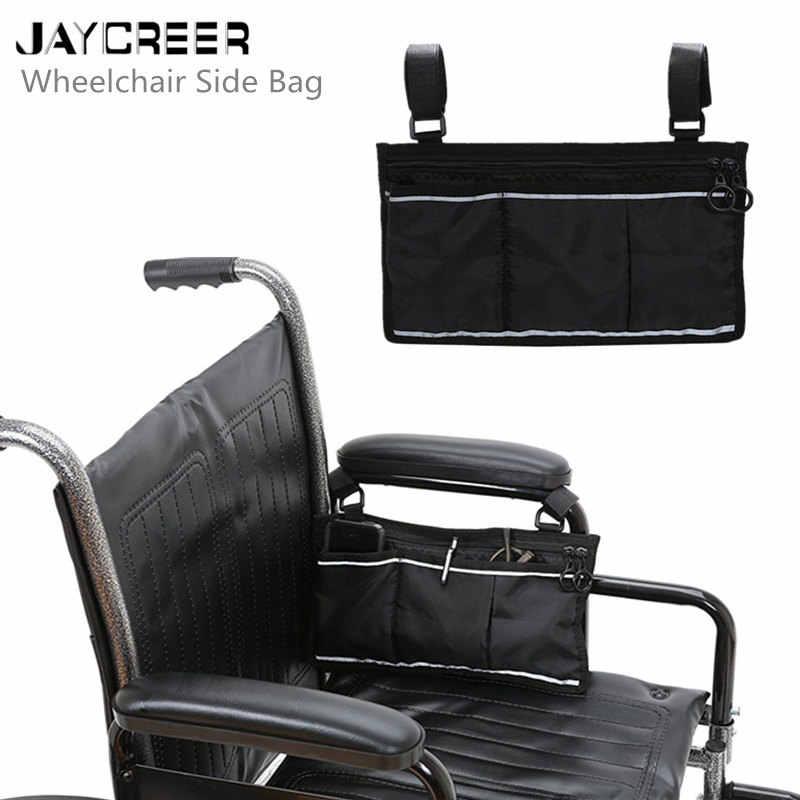Cadeira de Rodas JayCreer Saco Lateral-Preto-Grande Acessório para seus dispositivos de mobilidade. Serve para a maioria dos Scooters, Caminhantes, Andarilhos-Manua