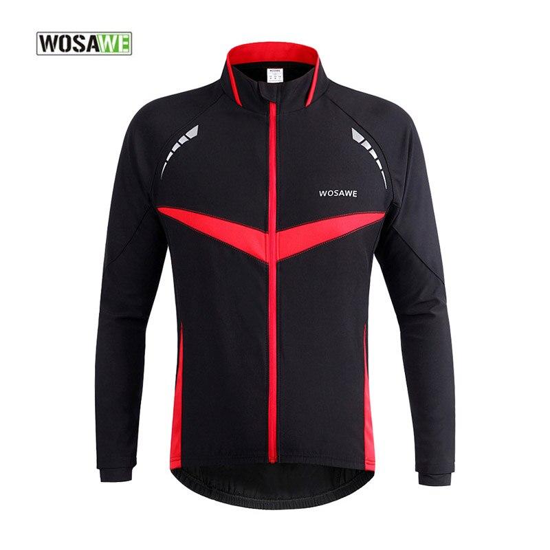 WOSAWE Waterproof Cycling Jerseys Rain Coat Ropa Wind Coat Windproof  Windcoat Bicycle Long Sleeves Clothing MTB Bike