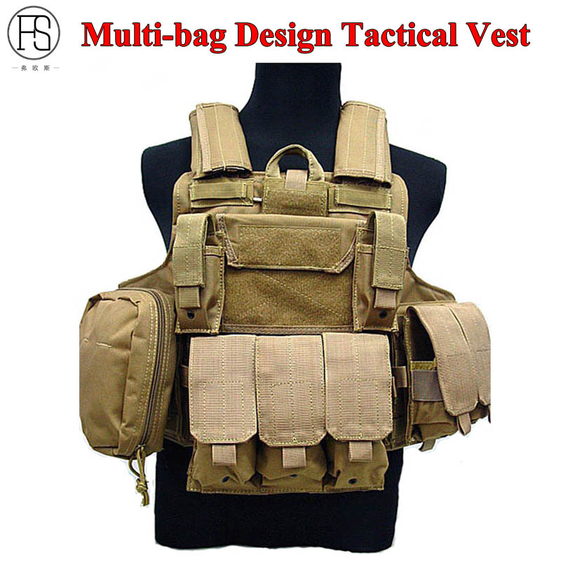 Hot Sale Multi-bag Design Tactical Vest Military Equipment CS War Game Airsoft Paintball Combat Camouflage Hunting Vest 8 Colors