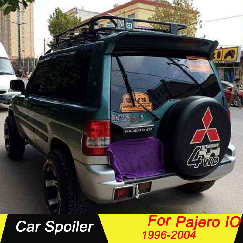High Quality ABS Material Car Spoiler For Mitsubishi Pajero IO 1996-2004 Primer Color Tail Wing Decoration Rear Trunk Spoiler