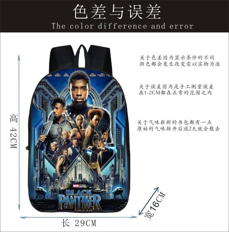 6f4e9864b62 2018 Hot Children Black Panther Marvel Backpacks For School Boys Girls  Printed Superhero Backpack For Kids Students