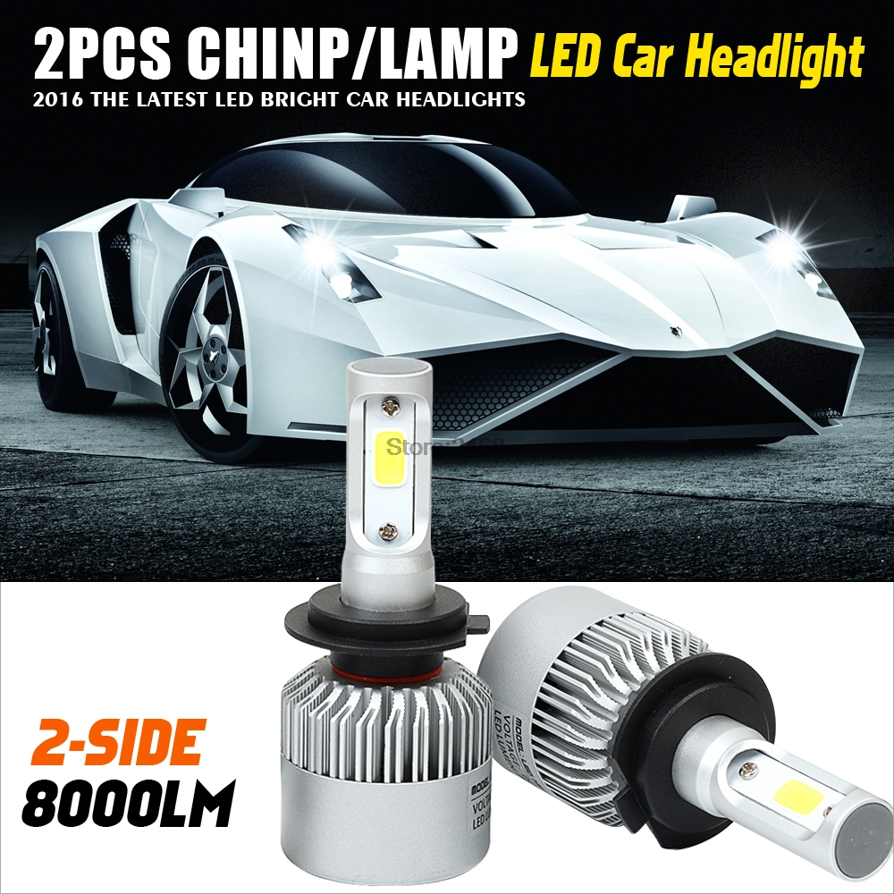 Led H4 H13 9004 9007 Car Headlight Bulbs COB 72W 8000Lm High Low Beam Led Headlight Kit Auto Front Fog Light Lamp one set 9004 cree led headlight conversion kit high low beam hb2 auto car moto car styling led headlamp driving lamp bulbs white