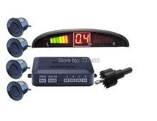 Car LED Parking Sensor Assistance Reverse Backup Radar Monitor System Backlight Display 4 Sensors car parking