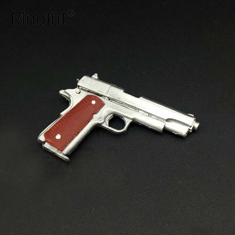 Mnotht 1/6 Scale Silver <font><b>M1911</b></font> 45 Pistol Model Plastic <font><b>Toy</b></font> <font><b>Gun</b></font> Model For 12in Action Figures Scene Accessories <font><b>Toys</b></font> Collection image