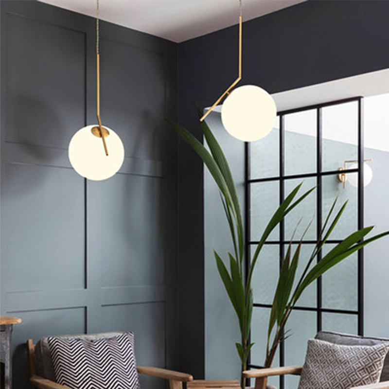 US $67.5 40% OFF|Modern Minimalist Pendant Lights Nordic Ceiling clothing  Restaurant Decoration Hanging lamp glass ball pendant lamps-in Pendant ...