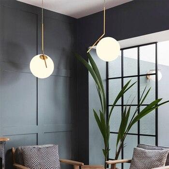 Modern Minimalist Pendant Lights Nordic Ceiling clothing Restaurant Decoration Hanging lamp glass ball pendant lamps