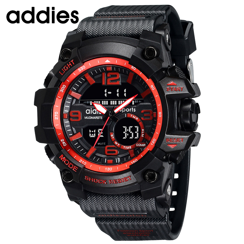 AIDIS Men Military Watch 30m Waterproof Wristwatch LED Quartz Clock - Men's Watches