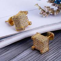 European 2019 New Luxury Crystal from Swarovski Hiphop hip hop men's jewelry 925 silver ear cap Gift Wedding Jewelry