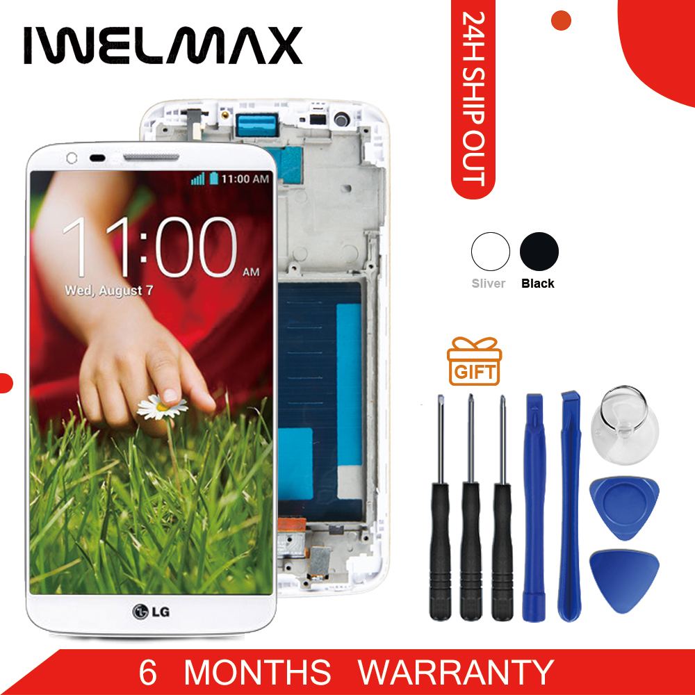 Warranty 5.2 '' LCD for LG G2 D802 Display Touch Screen Digitizer Assembly Display for LG G2 D802 LCD D800 D801 D805 D803