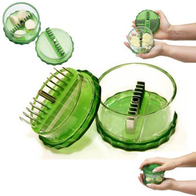 1pcs Garlic Chopper Press No-touch Peeler Dicer Slicer Cutter for Nuts Ginger Spice Mincer Stirrer Presser Kitchen Cooking Tools