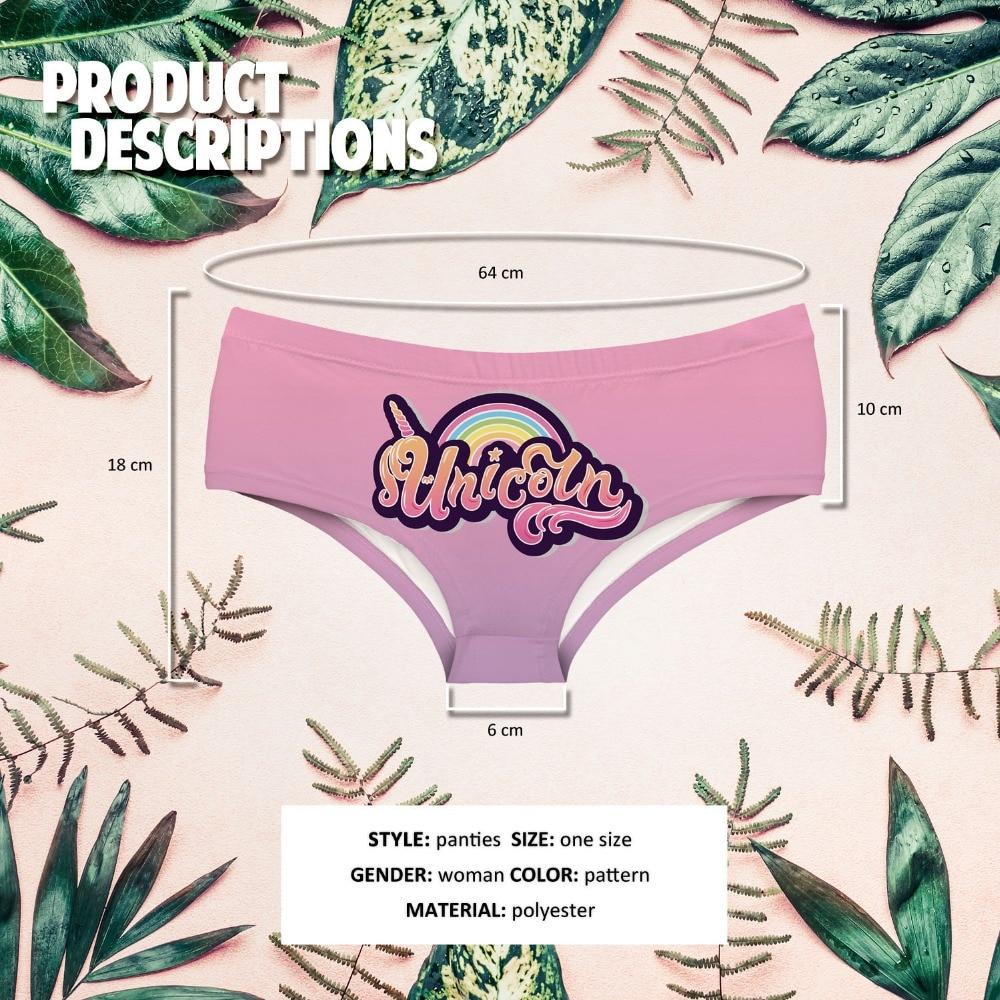 LEIMOLIS UNICORN LOGO OMBRE funny print sexy hot panties female kawaii Lovely underwear push up briefs women lingerie thongs in women 39 s panties from Underwear amp Sleepwears