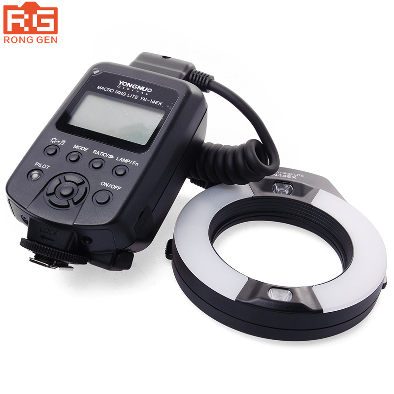 Yongnuo YN-14EX YN14EX TTL LED Macro Ring Lite Flash Speedlite Light with Adapter Ring for Canon EOS DLSR as MR-14EX