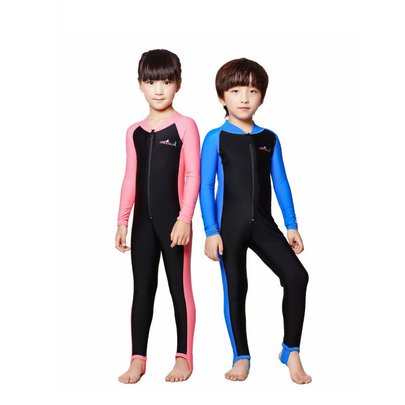 Fanceey/костюм для дайвинга детский купальный костюм для девочек и мальчиков, гидрокостюм для детей UPF 50 + цельный Детский купальник на молнии с...