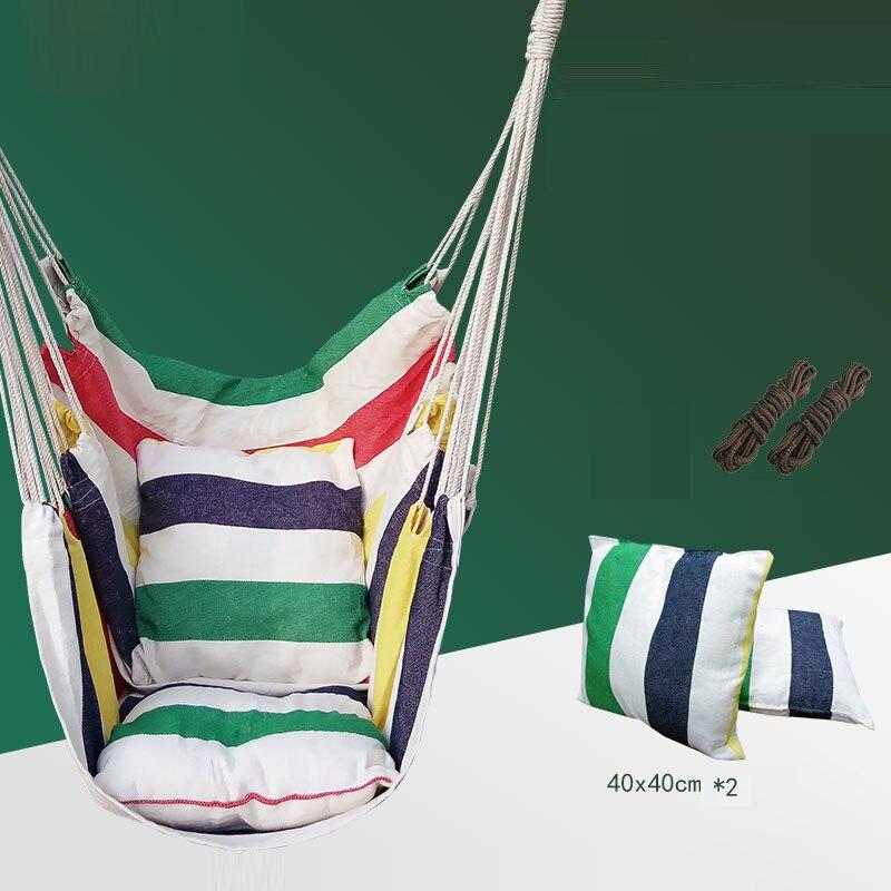 T swing chaise suspendue dortoir unique hamac rayure chambre meubles jardin extérieur hamock pas avec support avec oreillers