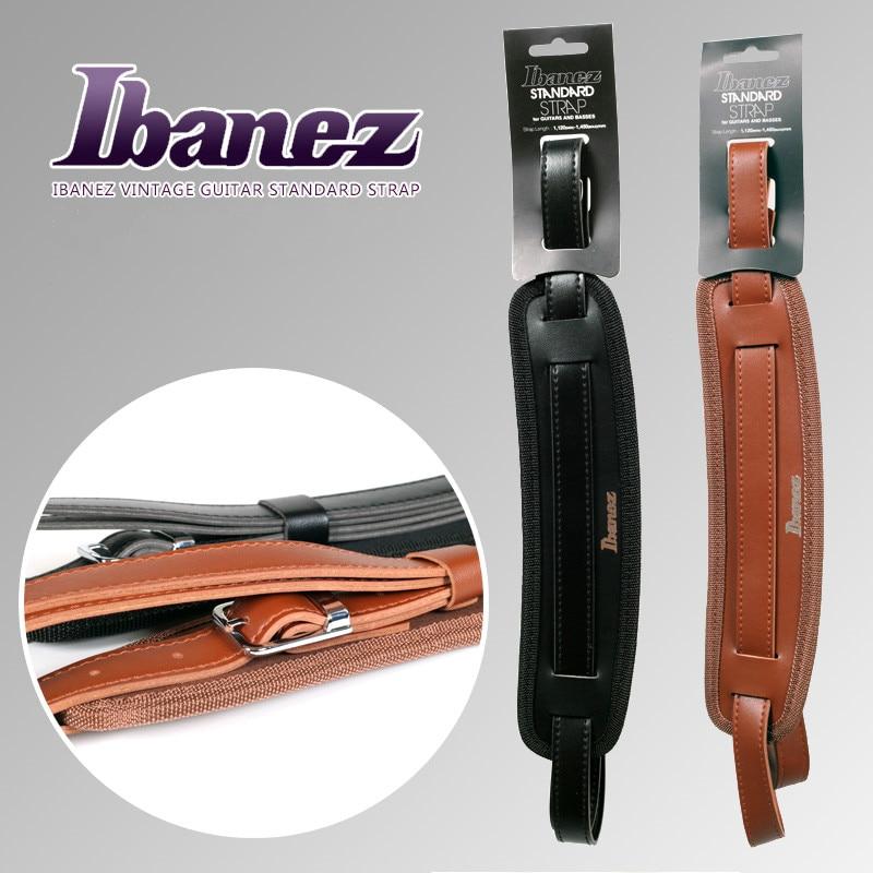 Ibanez GSRN50 Vintage Standard Guitar Strap, Black/Brown Available