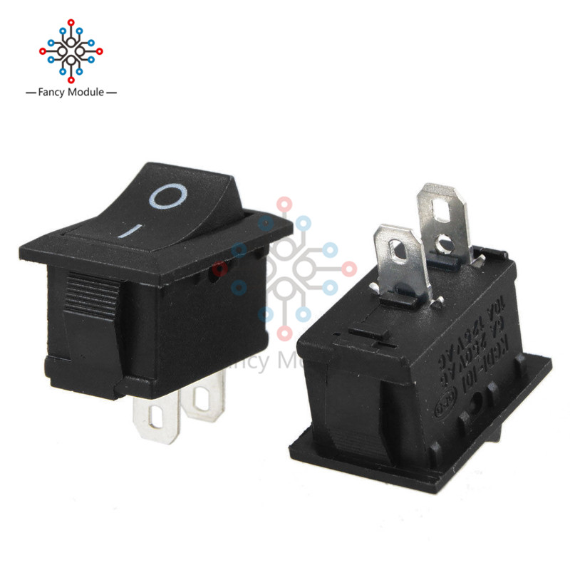 10Pcs Car Auto Truck Boat Round Rocker Toggle SPST Switches 12V 16A 2-Pin ON//OFF