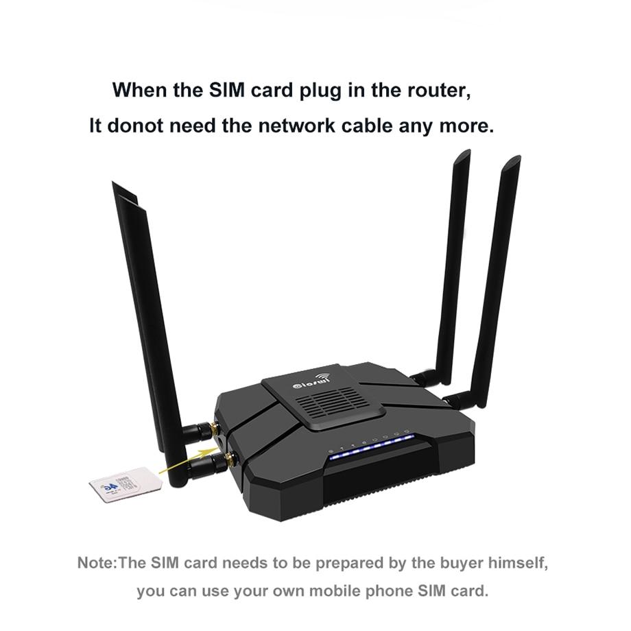 Routeur Wifi avec carte Sim avec Modem 3G 4G AC1200 512 mo répéteur WiFi Gigabit double bande 1 WAN 4 LAN 802.11AC routeur wi-fi sans fil