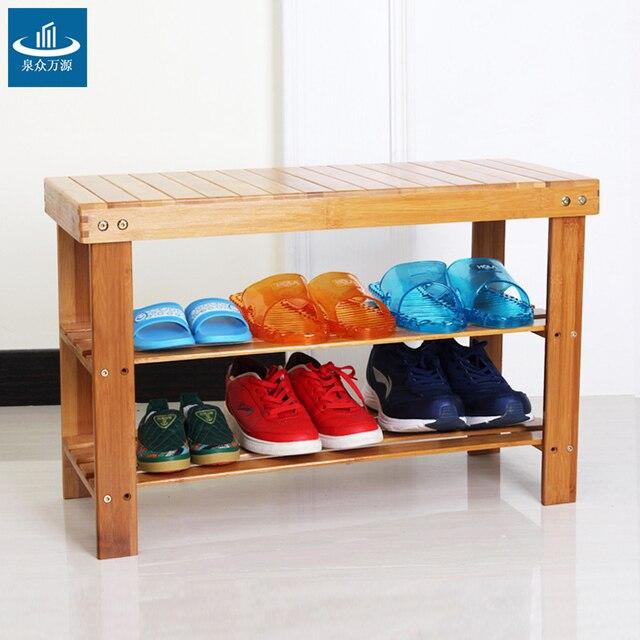 Estantes de zapatos taburete cambiar sus zapatos de bastidores de ...
