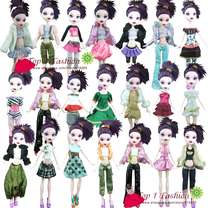 Buy Factory Wholesales 50sets Lot Quality Suit Clothes Dress For Monster High