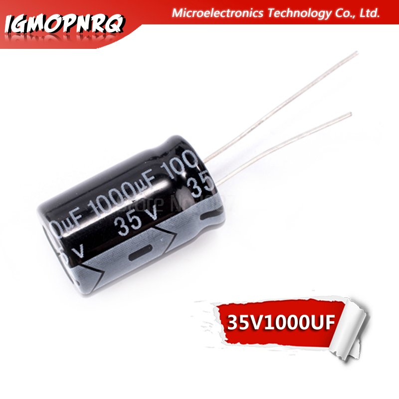 10PCS 35V1000UF 13*21mm 1000UF 35V 13x21mm Aluminum Electrolytic Capacitors DIP