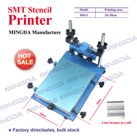 Hot selling SMT Printer MD L (24*30CM) Manual SMT/SMD silk Screen PCB Stencil Printer SMT manual screen printer with 4 squeegee