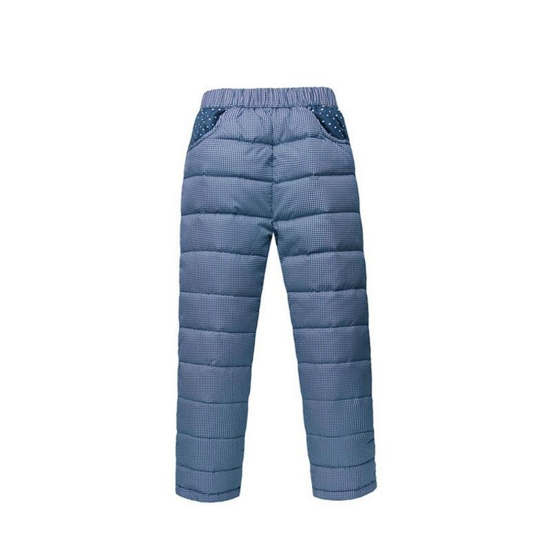 Warm Winter Children's Clothing Kids Down Pants Baby Boys And Girls Casual Sport Pant Children Down Cotton Warm Leggings