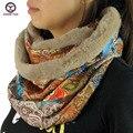 2016 новый большой кольцо стиль цветочные женская мода зима шейный платок шарфы вокруг шеи Женщины Обертывания дамы глушитель шерсти украшения