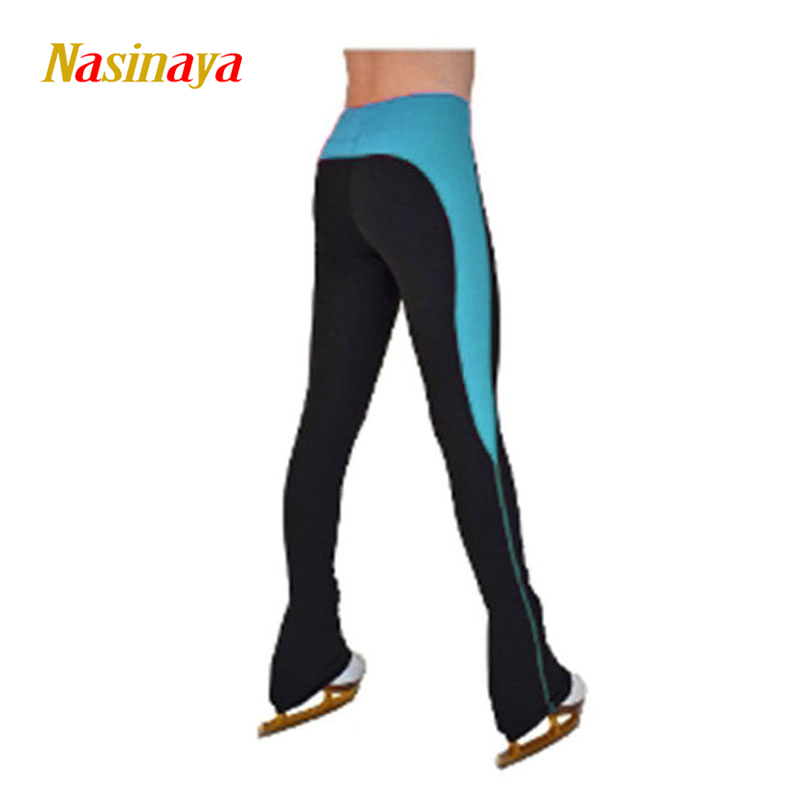 Customized Figure Skating pants long trousers for Girl Women Training Competition Patinaje Ice Skating Warm Fleece Gymnastics 7