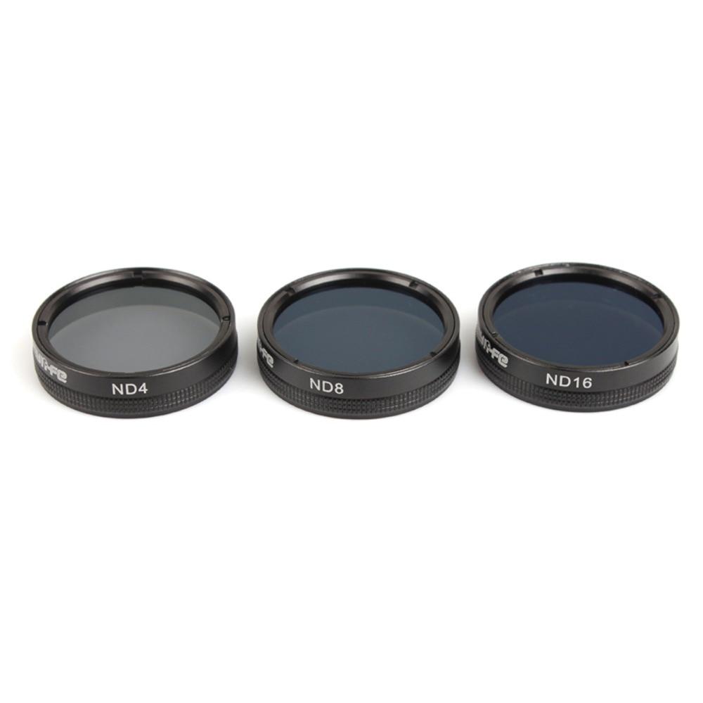Snap on Filters Set 3Pcs ND4/8/16 Multi-layer Coating Lens Filter Kit for for DJI Phantom 4 PRO/ PRO+/Advanced+ Free Shipping wholesale 1pcs mcuv filter lens for dji phantom 3 camera professional advanced hd lens