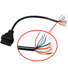 OBD2 OBD-II 16 Pin Female Extension Connector Diagnostic Extender Opening Cable