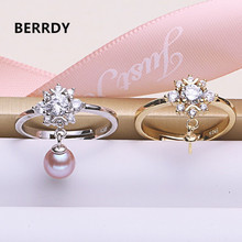 Fashion Pearl Ring Mountings, Ring Findings, Adjustable Ring Jewelry Parts Fittings Charm Accessories Silver Jewellery