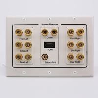 High Quality White Panel Speaker Plate HDMI 1.4 Subwoofer Audio Sound Plugs Compatible For Home Theater Wall Sockets