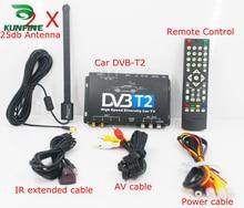 HD ТВ Автомобиль DVB-T2 DVB-T MULTI PLP цифровой ТВ приемник автомобильный блок DTV с двумя антенна тюнера
