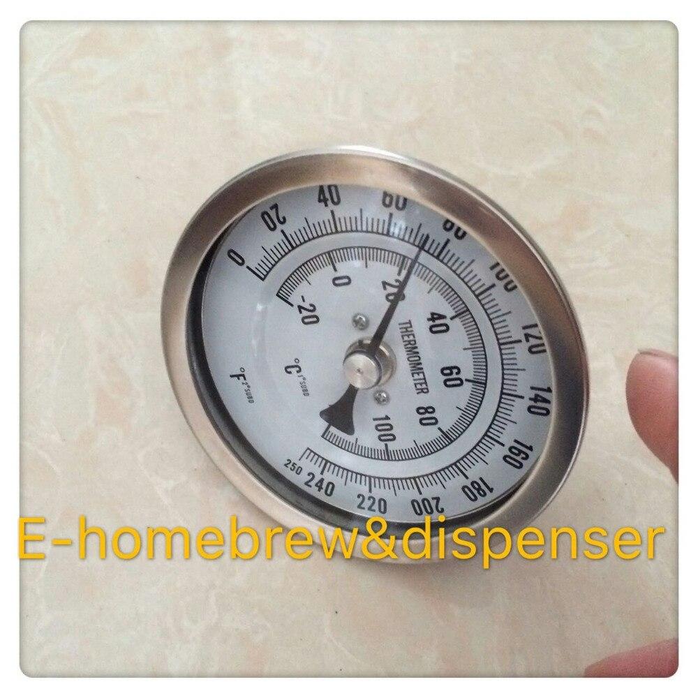 Schweißfreies Bi-Metall-Thermometer aus 304-Edelstahl, 3