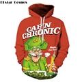 PLstar Cosmos frete grátis 2017 Outono Novo estilo De Natal Amantes de personalidade moda de impressão 3D hoodies Camisolas Com Capuz