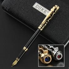 DUKE Iraurita ปากกา 0.5 มม./1.0 มม.ปากกาปากกาโลหะเต็มรูปแบบอัญมณี Caneta เครื่องเขียนเดิมกล่องสำหรับของขวัญ 1042