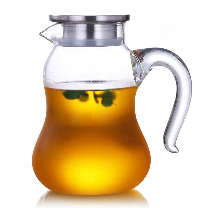 1500 мл/2000 мл большой термостойкий стеклянный кувшин для чая с фильтром офисная бутылка для чая вода молоко сок кувшин диспенсер для напитков