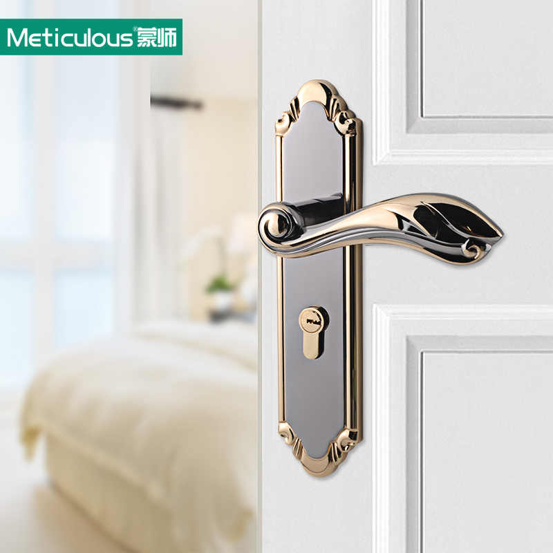 Double Security Entry Mortise House Door Lock Set Stainless Steel Interior Room Gate Locks