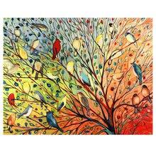 DIY diamond painting 27 Birds on the tree Diamond embroidery rhinestones bird in mosaic color birds