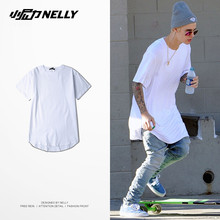 NELLY Skateboard T Shirts Cotton Street Young Adults Tees Long-Type Short Sleeve Skateboarding Tops