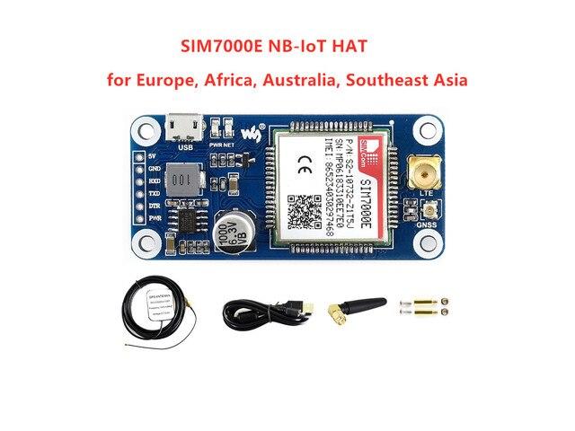 Waveshare NB IoT/eMTC/EDGE/GPRS/GNSS כובע עבור RPi אפס/אפס W/ אפס WH/2B/3B/3B +, המבוסס על SIM7000E, תומך TCP, UDP, PPP, HTTP, דואר