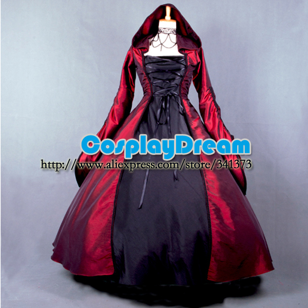 Custom made Elegant ROCOCO Punk gothic victorian style gown prom dresses  ball lolita long dress evening dress Gothic costume 6766e90fa45e