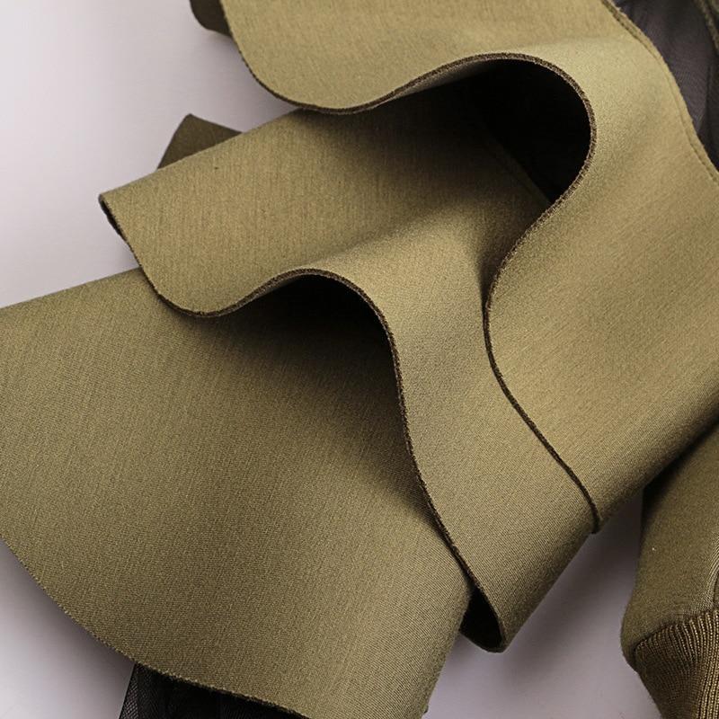 [EAM] 2020 New Spring Round Neck Long Sleeve Solid Color Gauze Split Joint Loose Sweatshirt Women Fashion Tide JC509 3