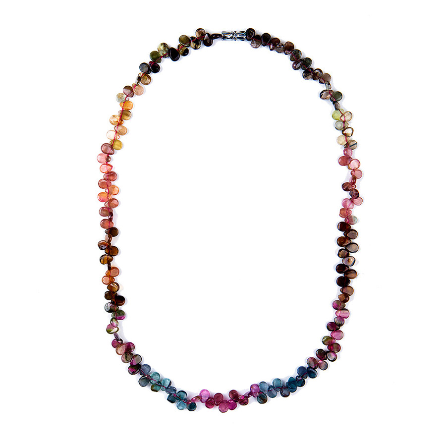 Genuine Colorful Natural Tourmaline Quartz Crystal Beads ... Quartz Crystal Beads